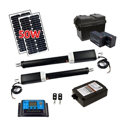 Dual Swing Gate Operator - AS1300U - ETL Listed - Solar Kit 20W - ALEKO