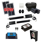 Dual Swing Gate Operator - AS1300U - ETL Listed - Solar Kit 30W - ALEKO