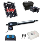 Single Swing Gate Operator - AS600 AC/DC - Solar Kit 50W - ALEKO