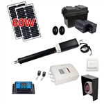 Single Swing Gate Operator - AS600 AC/DC - Solar Kit 30W - ALEKO