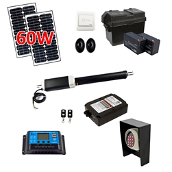Single Swing Gate Operator - ETL Listed - AS650U - Solar Kit 30W - ALEKO