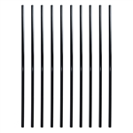 Black Powder Coated Baluster - Round Pipe/Tube Design - 32 Inches - Pack of 10 - ALEKO