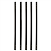 Black Powder Coated Baluster - Simple Plank No Bend Design - 32 Inches - Pack of 5 - ALEKO