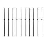 Black Powder Coated Baluster - Single Knuckle Design - 44 Inches - Pack of 10 - ALEKO