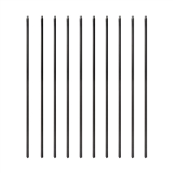 Black Powder Coated Baluster - Square Design - 32 Inches - Pack of 10 - ALEKO