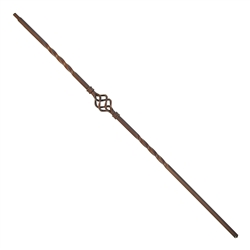 ALEKO BSTR002B Single Basket Design 44 Inch Spindles Oil Rubbed Bronze Baluster, Pack of 10