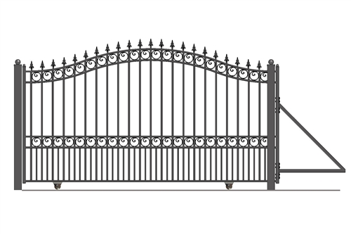 ALEKO® LONDON Style Slide Steel Driveway Gate 12' X 6 1/4' FREE SHIPPING!