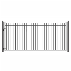 ALEKO® MADRID Style Single Swing Steel Driveway Gate 12'