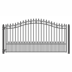 ALEKO® ST.PETERSBURG Style Single Swing Steel Driveway Gate 12' X 6 1/4' FREE SHIPPING!