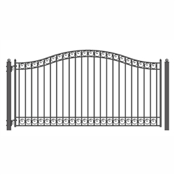 ALEKO® DUBLIN Style Single Swing Steel Driveway Gate 14'