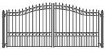 ALEKO® LONDON Style Swing Dual Steel Driveway Gates 14'