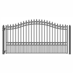 ALEKO® LONDON Style Single Swing Steel Driveway Gate 14' X 6 1/4' FREE SHIPPING!