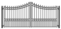 ALEKO® MOSCOW Style Swing Dual Steel Driveway Gates 16'