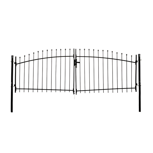 ALEKO® DIY Arched Steel Dual Swing Driveway Gate Kit with Lock - ATHENS  Style - 11 x 5 Feet