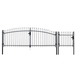 Steel Driveway Gate Kit with Pedestrian Gate - ATHENS Style - ALEKO