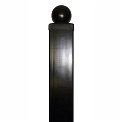 "ALEKO Gate Post 8' x 3.5"" x 3.5"" for Driveway Steel Gates"