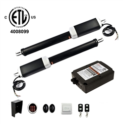 Dual Swing Gate Operator - GG1300U AC/DC - ETL Listed - Accessory Kit ACC4 - ALEKO