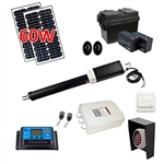 Single Swing Gate Operator - GG450 AC/DC - Solar Kit 60W - ALEKO