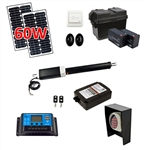 Single Swing Gate Operator - ETL Listed - GG650U - Solar Kit 60W - ALEKO