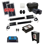 Dual Swing Gate Operator - GG900U AC/DC - ETL Listed - Solar Kit 60W - ALEKO