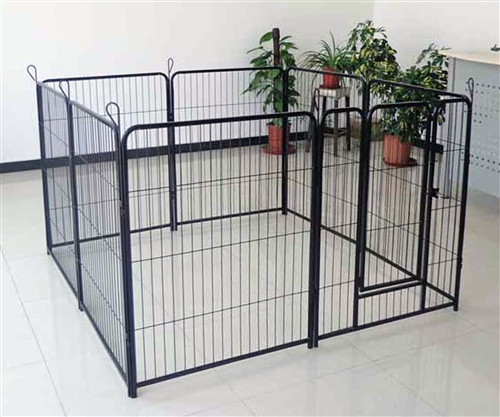 Aleko Black 8 Panel 40 Quot Dog Kennel And Pet Playpen For