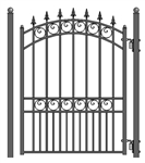 ALEKO® London Steel Pedestrian Gate 5'