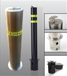 ALEKO® Black Removable Fixed Parking Bollard