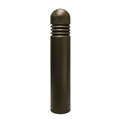 OceanWalk Metal Bollard with LED Lights - Brown - ALEKO
