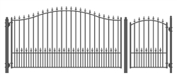 Set of ALEKO® MUNICH Style Steel Swing Single Driveway 12 ft with Pedestrian Gate 4 ft