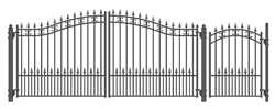 St Petersburg Swing Dual Steel Driveway with Pedestrian Gate
