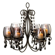 Midnight Elegance Dark Metal Chandelier