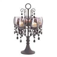 Midnight Elegance Dark Metal Candelabra
