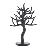 Black Matte Finish Jewelry Tree Stand