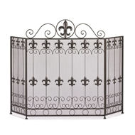 French Revival Fleur-De-Lis Fireplace Screen