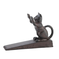 Cat Scratching Cast Iron Door Stop