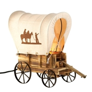 Western Covered Wagon Table Lamp