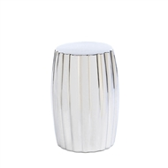 Silver Ceramic Stool Table Decor
