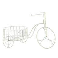 White Tricycle Planter Stand