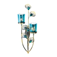 Peacock Blue Candle Wall Sconce