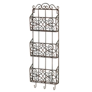 Black Vintage Charm Triple Wall Rack