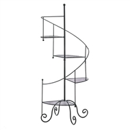 Staircase Design Black Metal Plant Stand
