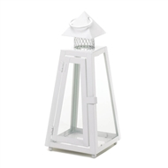 Summit White Small Candle Lantern