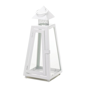 Clear Glass Summit White Hanging Candle Lantern