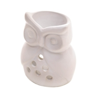 White Charming Owl Ceramic Fragrance Oil Warmer