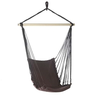 Espresso Brown Cotton Padded Swing Chair 200lb Cap