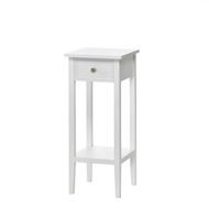 Willow White Wood 1-drawer Side Table