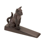 Sitting Cat Cast Iron Door Stop