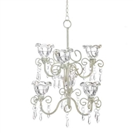 Crystal Blooms Tiered Candle Chandelier