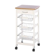 White Kitchen Side Table Trolley