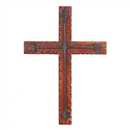 Cinnamon Color Wood & Iron Cross